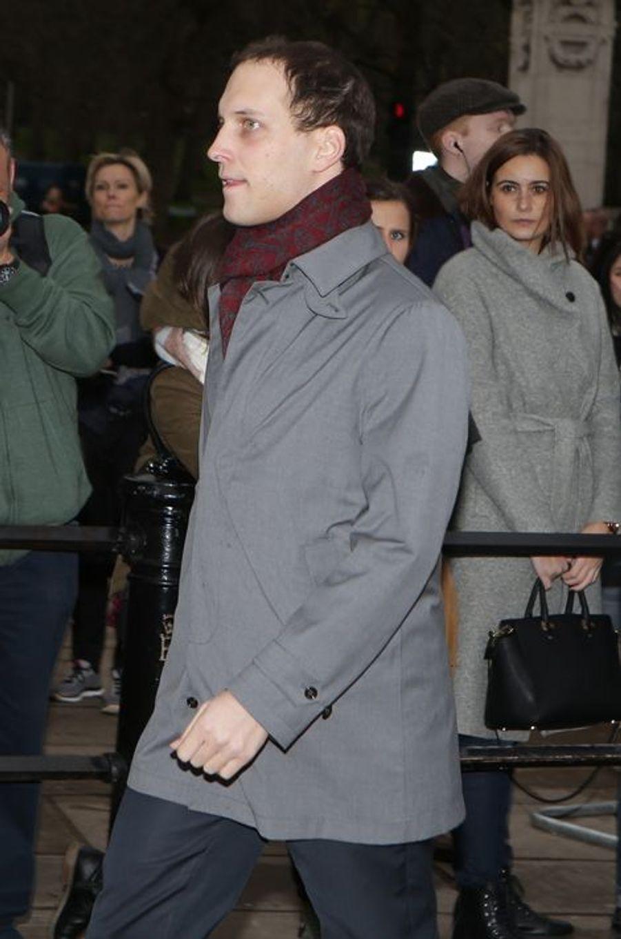 Lord Frederick Windsor, fils du prince Michael de Kent, à Londres le 16 décembre 2015