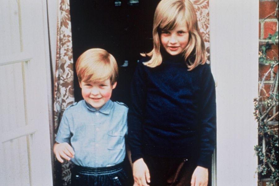 Diana Spencer avec son frère en 1967