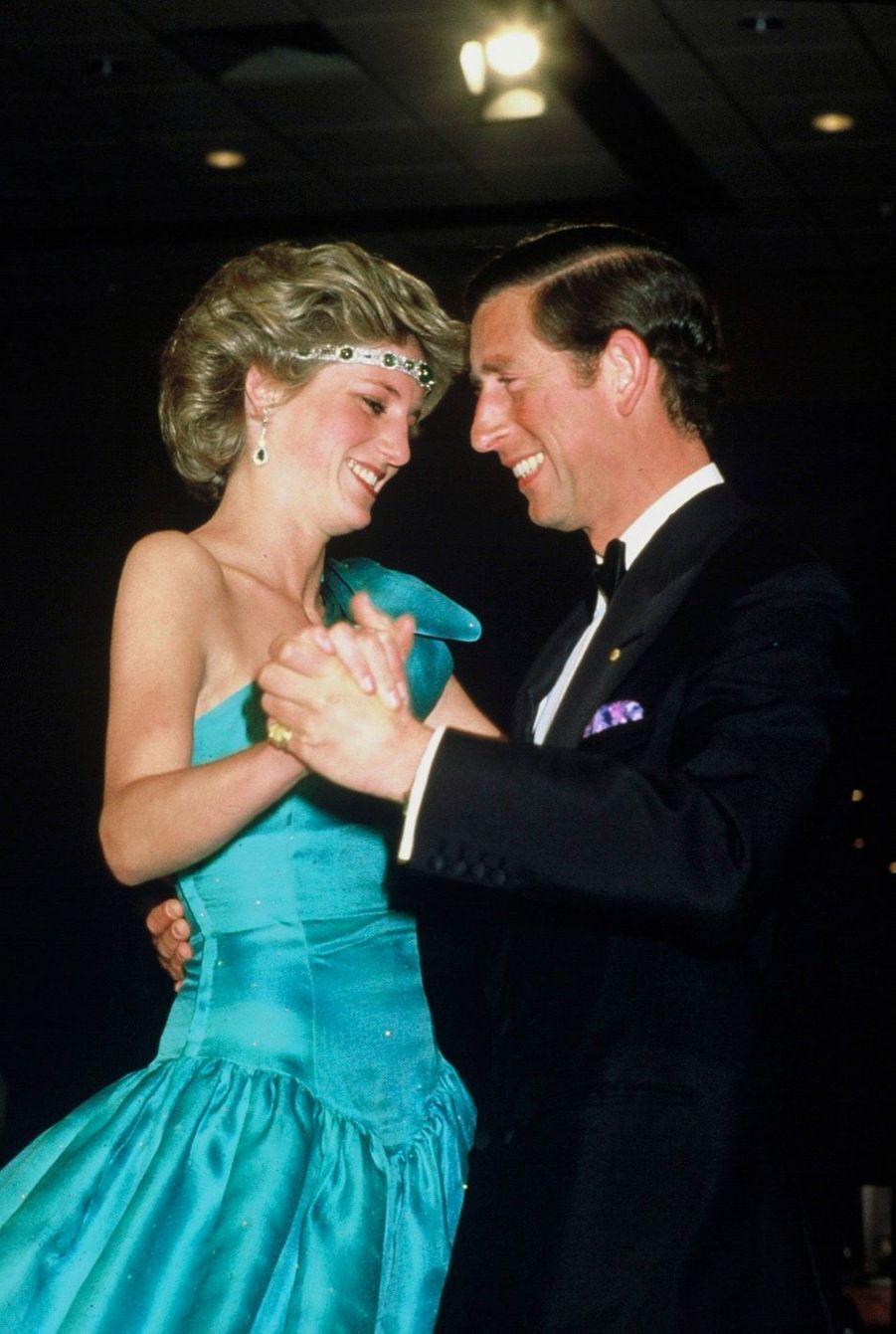 La princesse Diana et le prince Charles en Australie, en 1985.