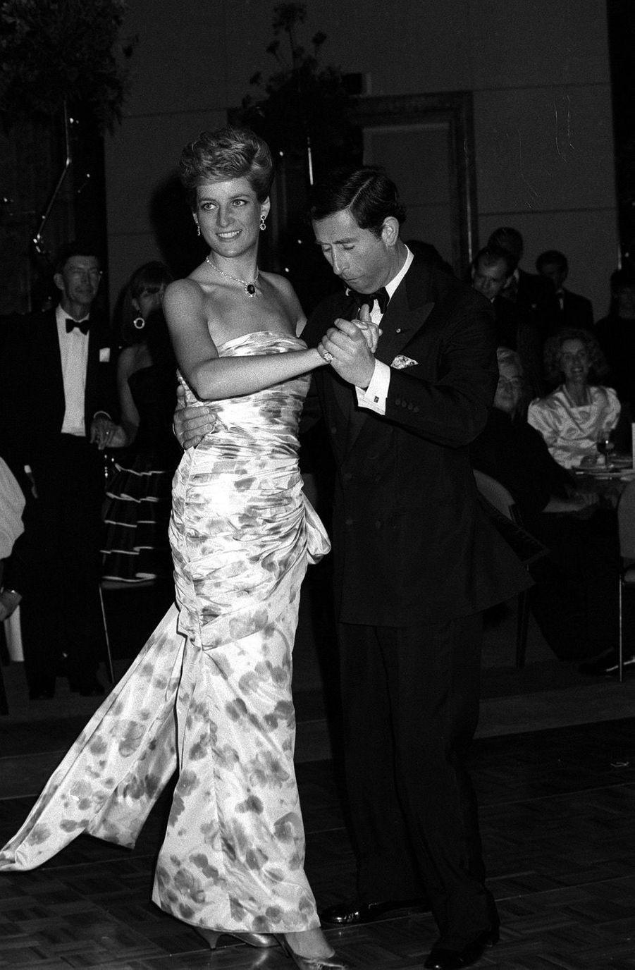 La princesse Diana et le prince Charles en Australie, en 1983.