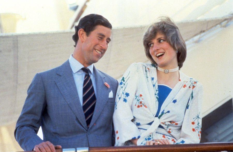 La princesse Diana et le prince Charles au début des années 1980 (non datée)