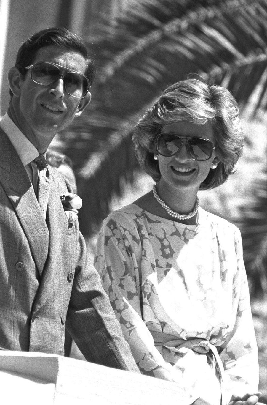 La princesse Diana et le prince Charles àBari en Italie, le 7 mai 1985.