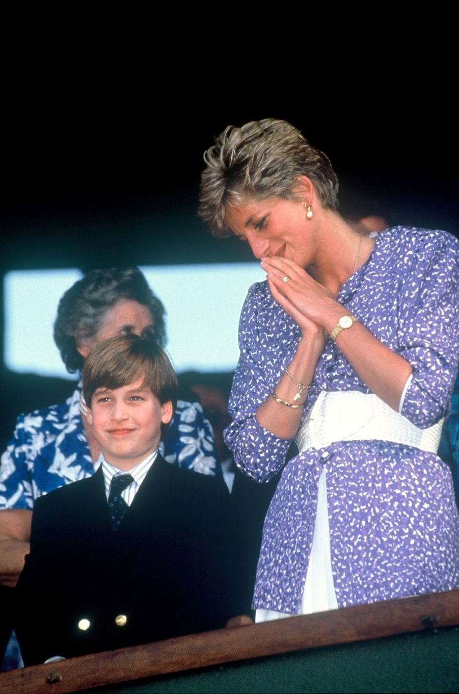 Lady Diana avec le prince William le 6 juillet 1991