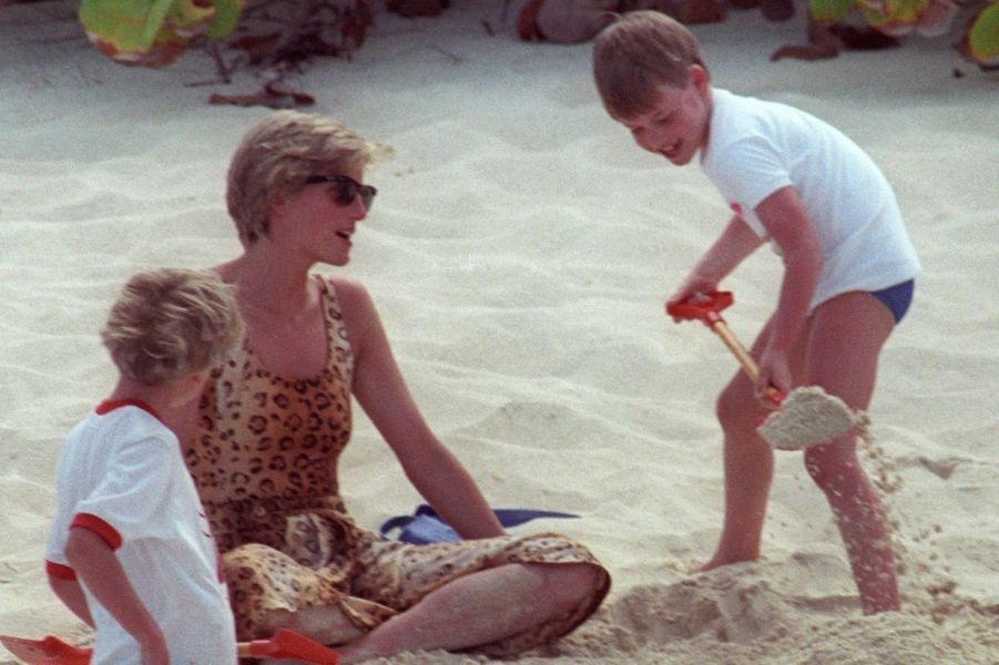 Lady Diana avec le prince William le 11 avril 1990