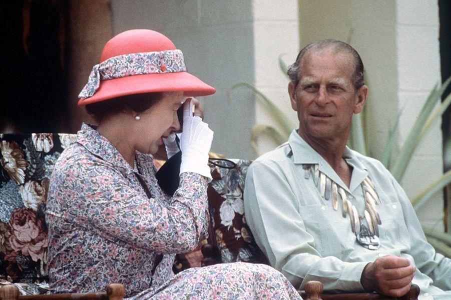La reine Elizabeth II et le prince Philip, le 26 octobre 1982