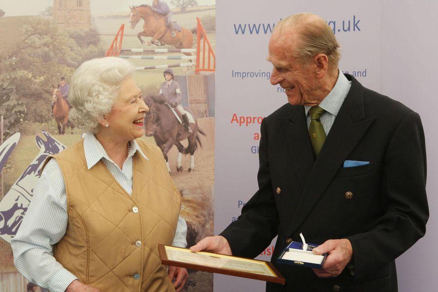 La reine Elizabeth II et le prince Philip, le 8 mai 2008