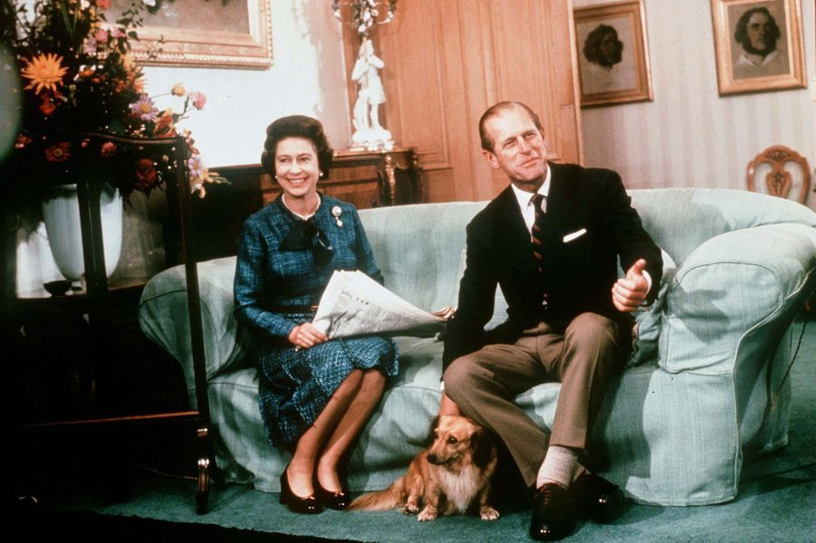 La reine Elizabeth II et le prince Philip, en 1975
