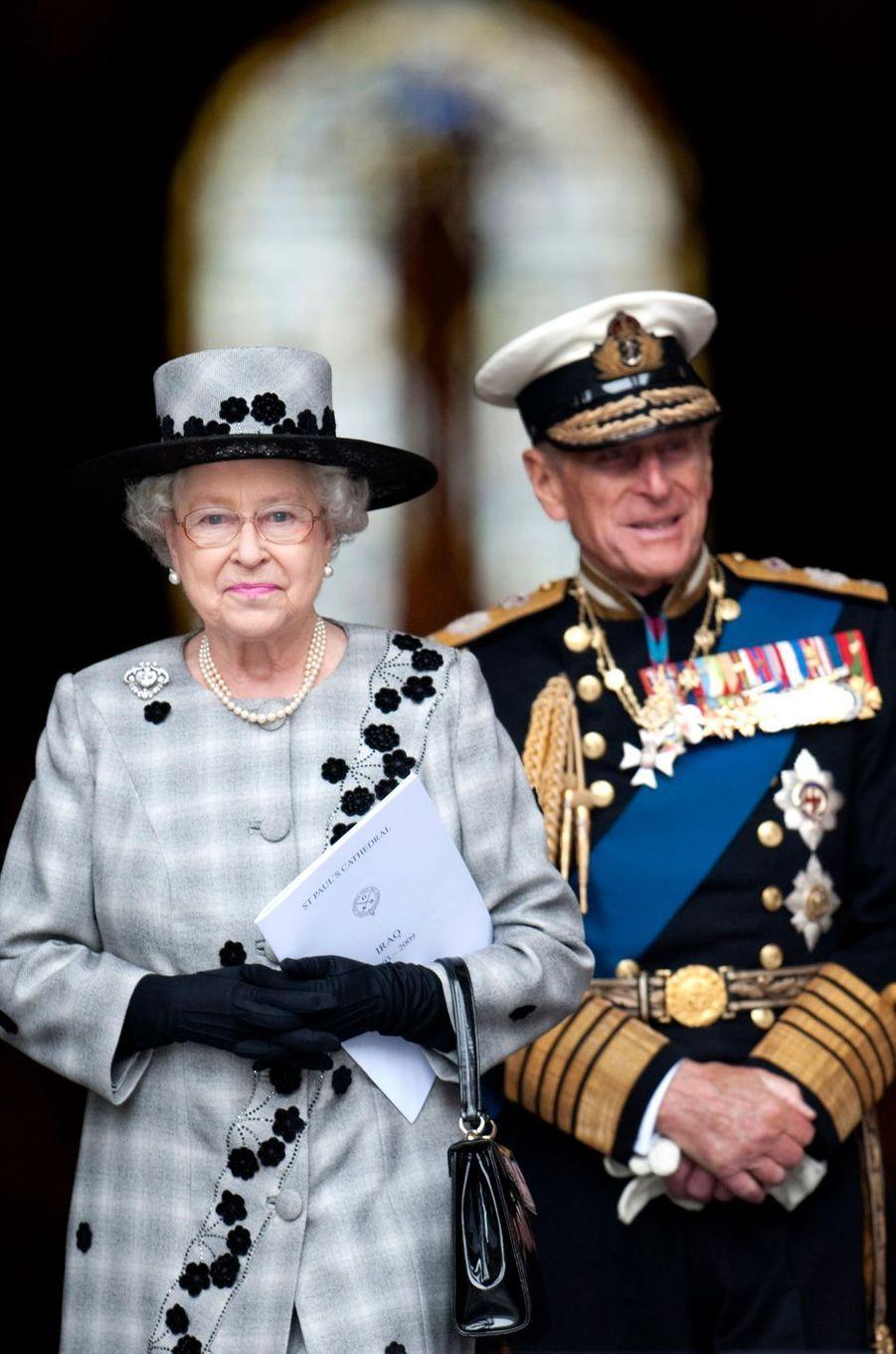 La reine Elizabeth II et le prince Philip, le 9 octobre 2009
