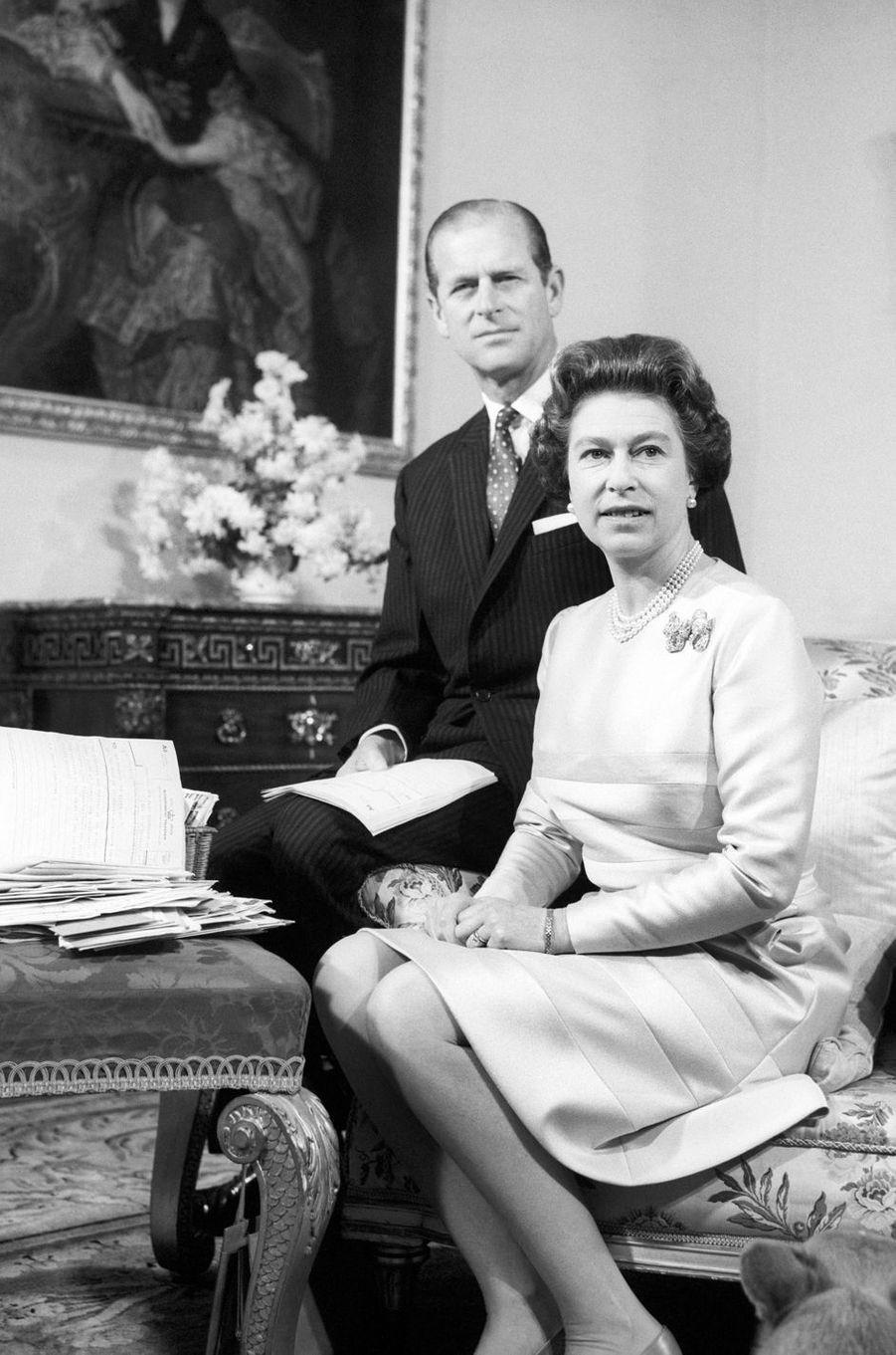 La reine Elizabeth II et le prince Philip, le 20 novembre 1972