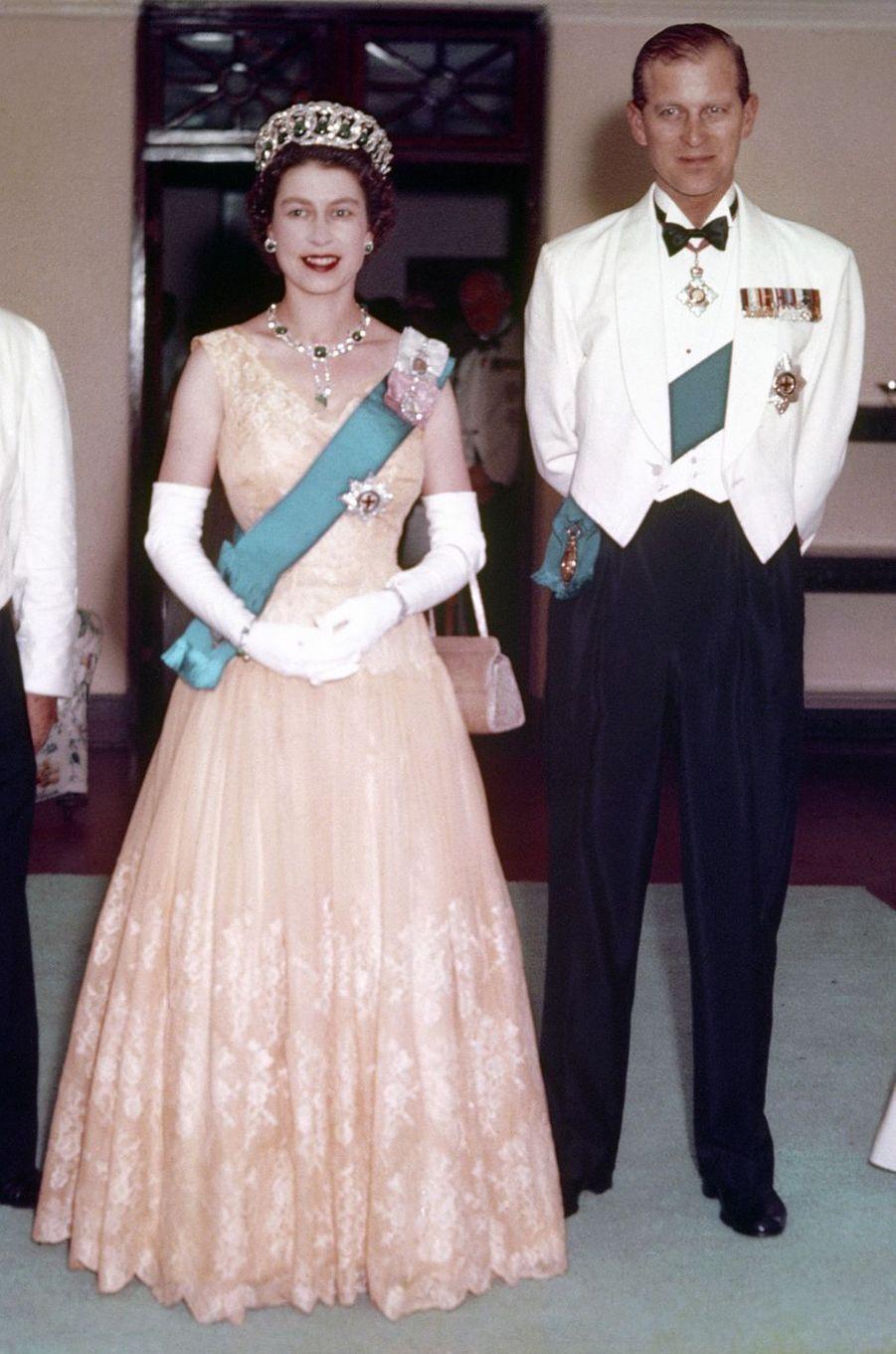 La reine Elizabeth II et le prince Philip, le 1er février 1954