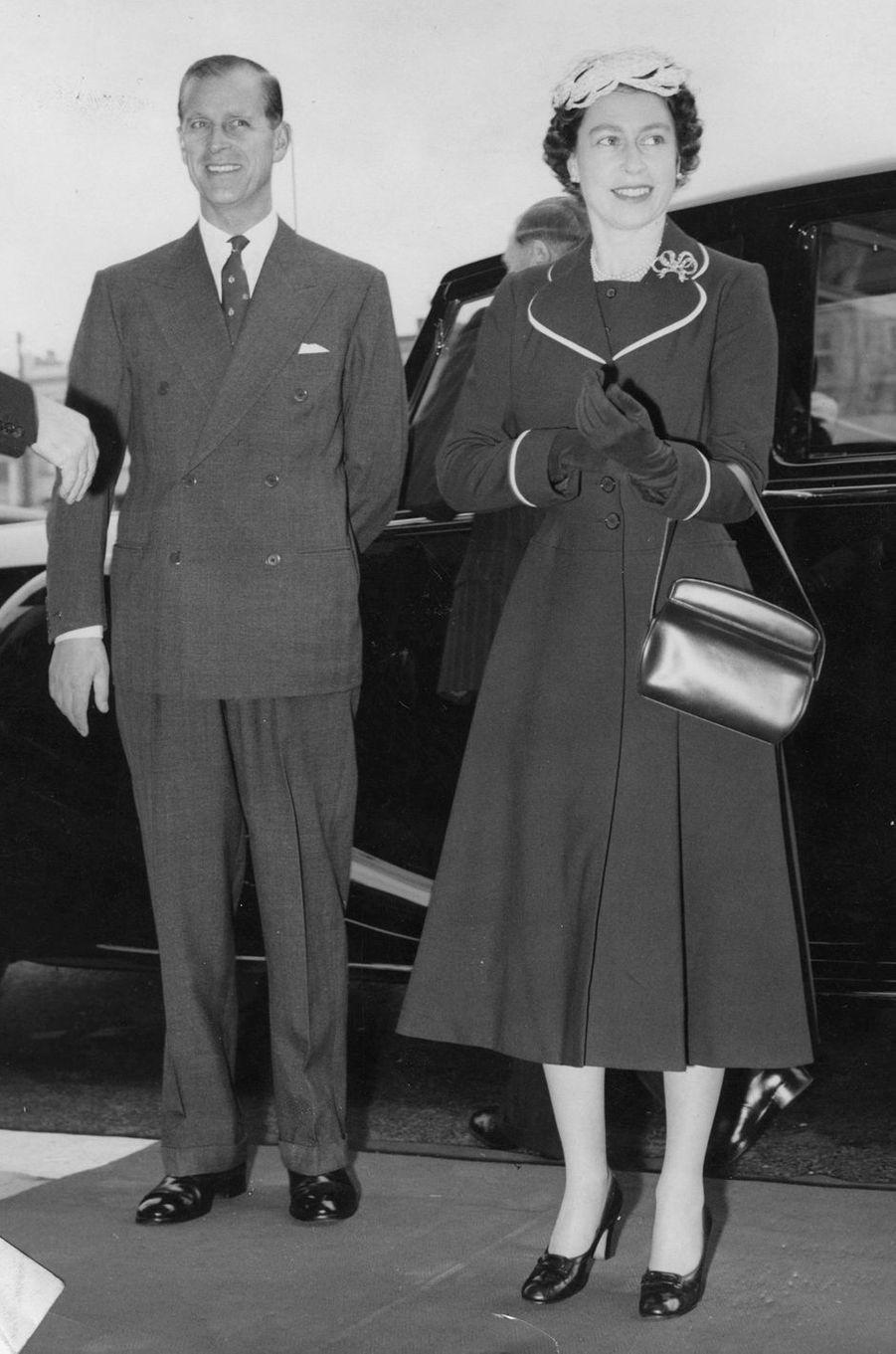 La reine Elizabeth II et le prince Philip, le 26 avril 1956