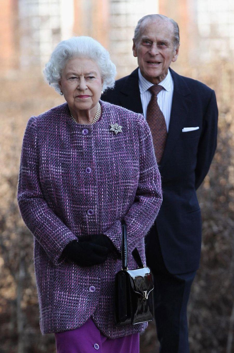La reine Elizabeth II et le prince Philip, le 15 mars 2012