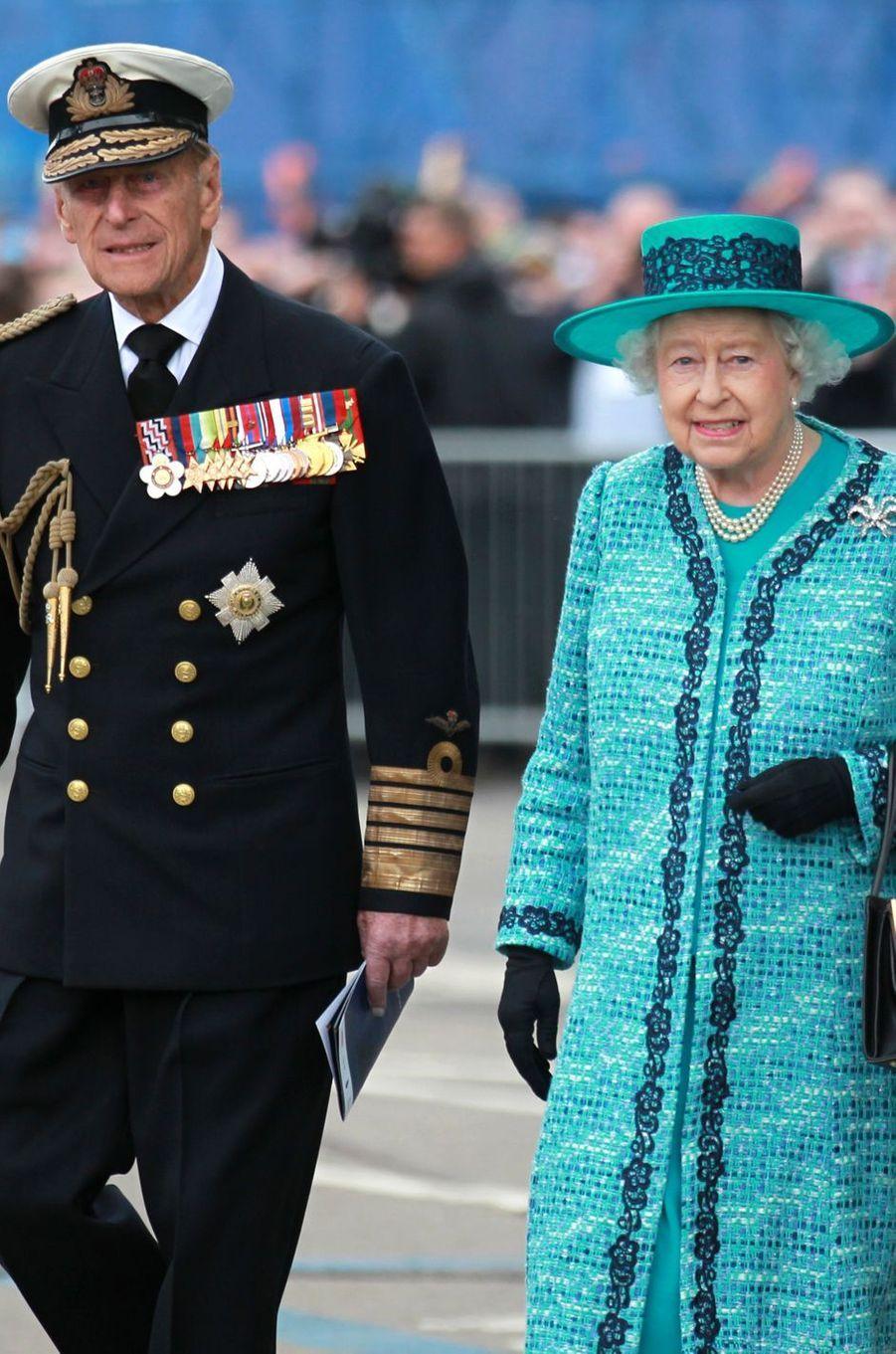 La reine Elizabeth II et le prince Philip, le 4 juillet 2014