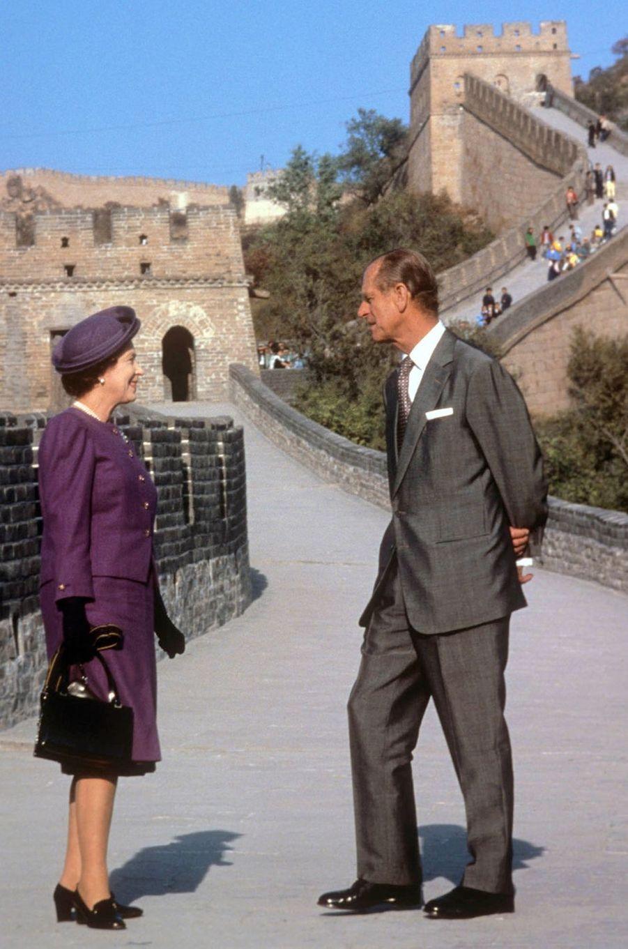 La reine Elizabeth II et le prince Philip, le 14 octobre 1986