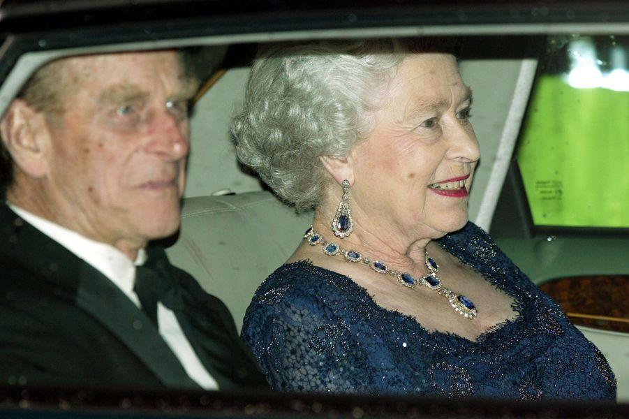La reine Elizabeth II et le prince Philip, le 14 novembre 2002
