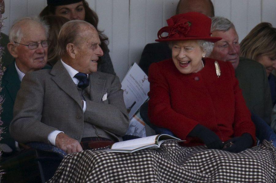 La reine Elizabeth II et le prince Philip, le 5 septembre 2015
