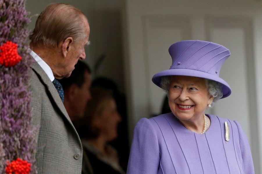 La reine Elizabeth II et le prince Philip, le 3 septembre 2016