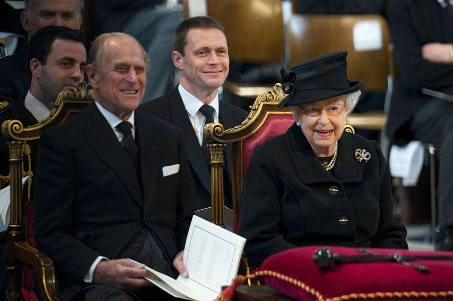 La reine Elizabeth II et le prince Philip, le 17 avril 2013