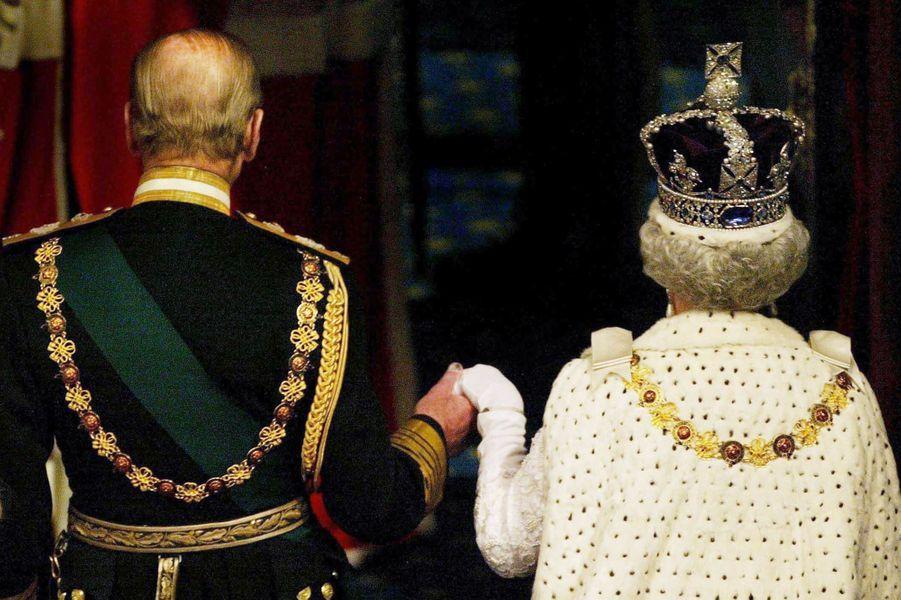 La reine Elizabeth II et le prince Philip, le 26 novembre 2003