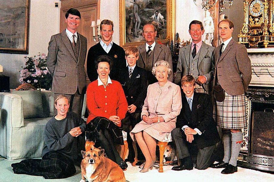 La reine Elizabeth II et le prince Philip en famille, en 1996