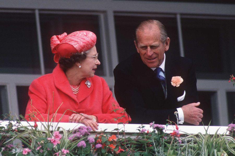 La reine Elizabeth II et le prince Philip, le 7 juin 1989