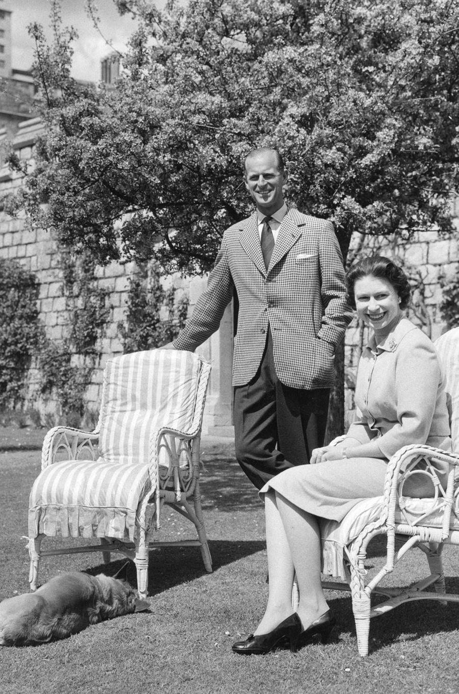 La reine Elizabeth II et le prince Philip, en 1959