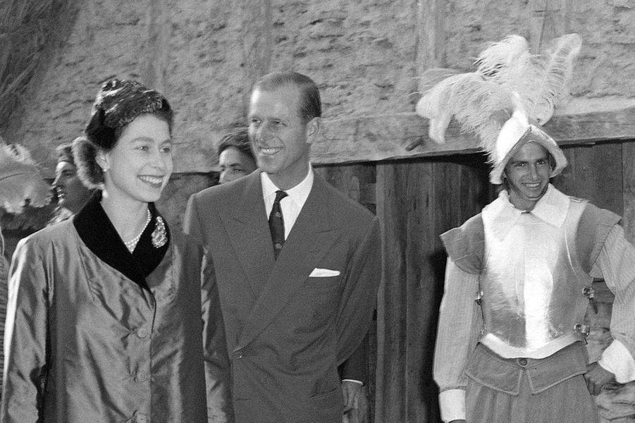 La reine Elizabeth II et le prince Philip, le 16 octobre 1957