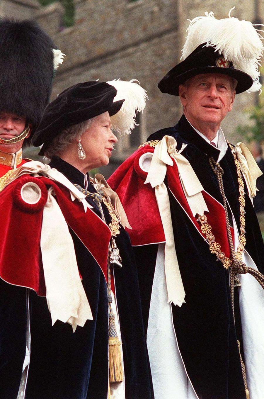 La reine Elizabeth II et le prince Philip, le 15 juin 1998