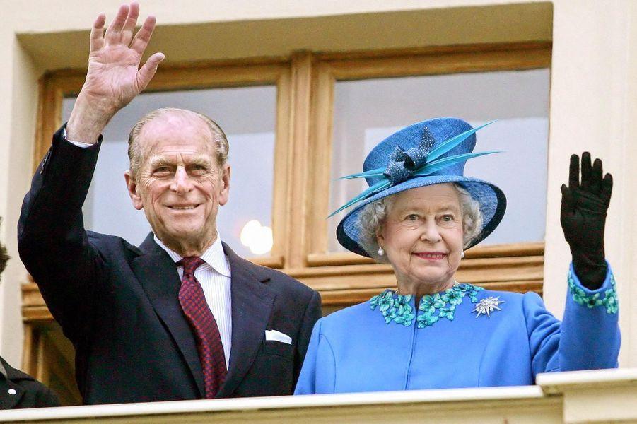 La reine Elizabeth II et le prince Philip, le 3 novembre 2004