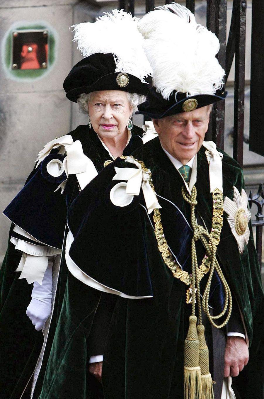La reine Elizabeth II et le prince Philip, le 7 juillet 2006