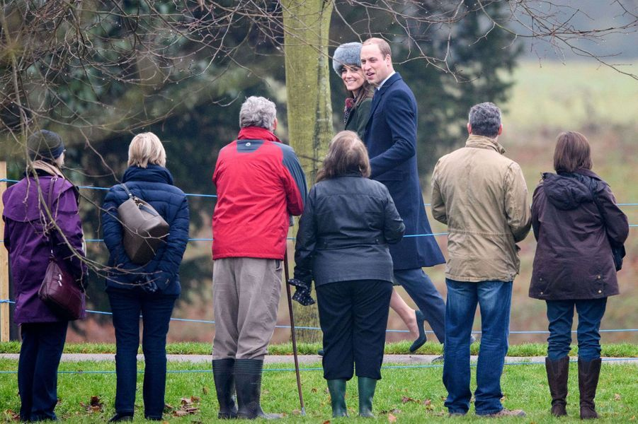 Le prince William et Kate Middleton à Sandringham, le 8 janvier 2017