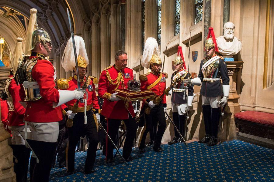 Cérémonie d'ouverture du Parlement à Londres, le 21 juin 2017
