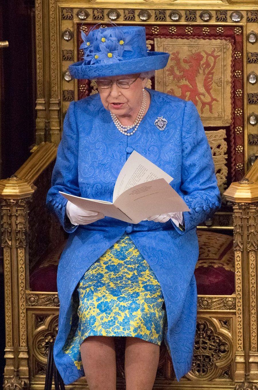 La reine Elizabeth II à Londres, le 21 juin 2017