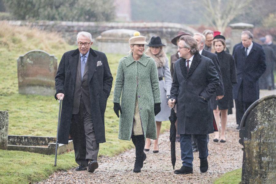 David Armstrong Jones et sa femme Serena à Flitcham, le 15 janvier 2017