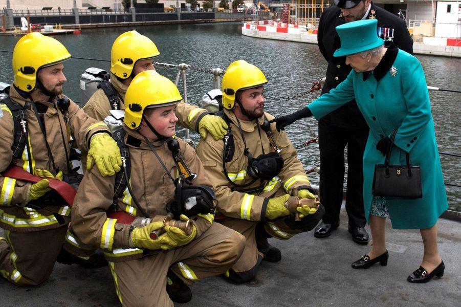 La reine Elizabeth II à Londres, le 23 octobre 2017