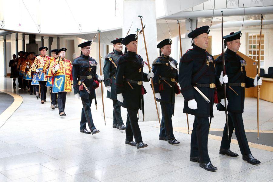 Cérémonie d'ouverture du Parlement écossais à Edimbourg, le 3 juillet 2016