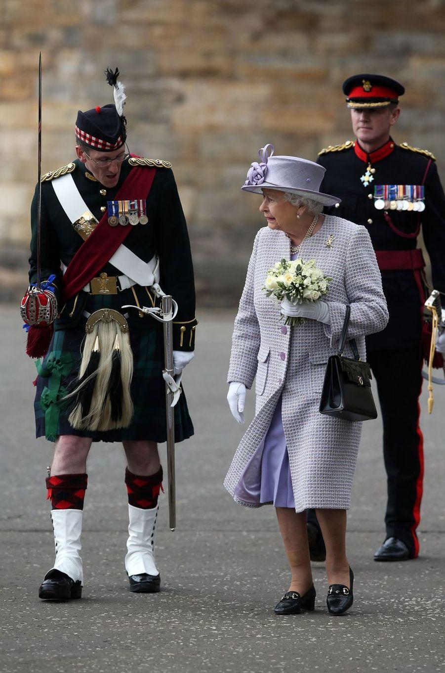 La reine Elizabeth II à Edimbourg, le 1er juillet 2016