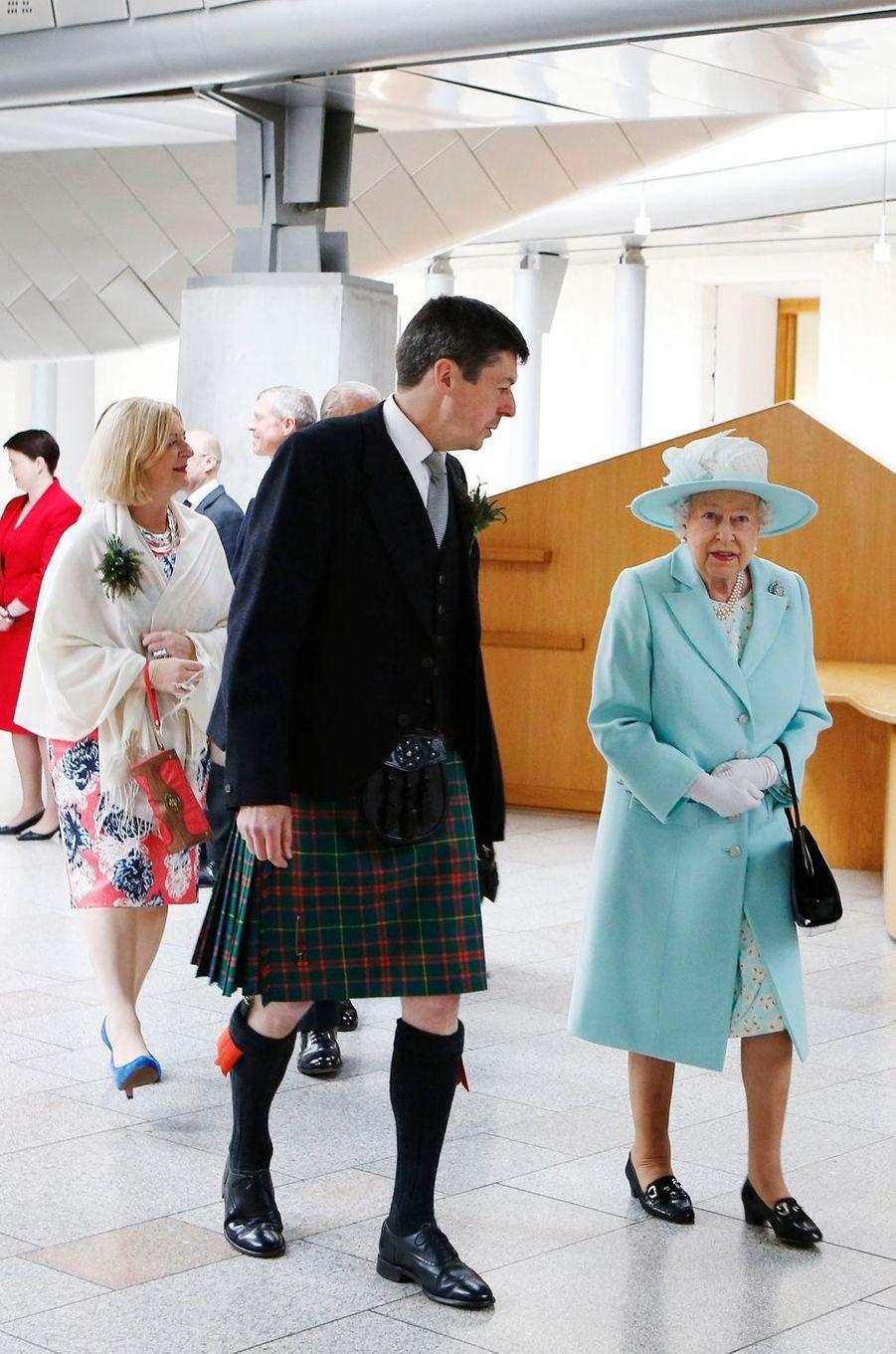 La reine Elizabeth II à Edimbourg, le 2 juillet 2016