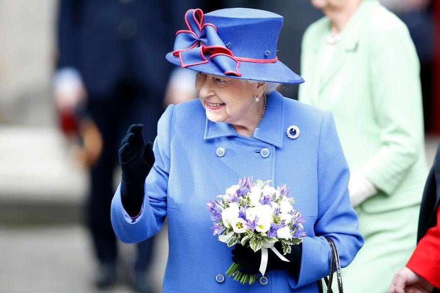 La reine Elizabeth II à Edimbourg, le 3 juillet 2016