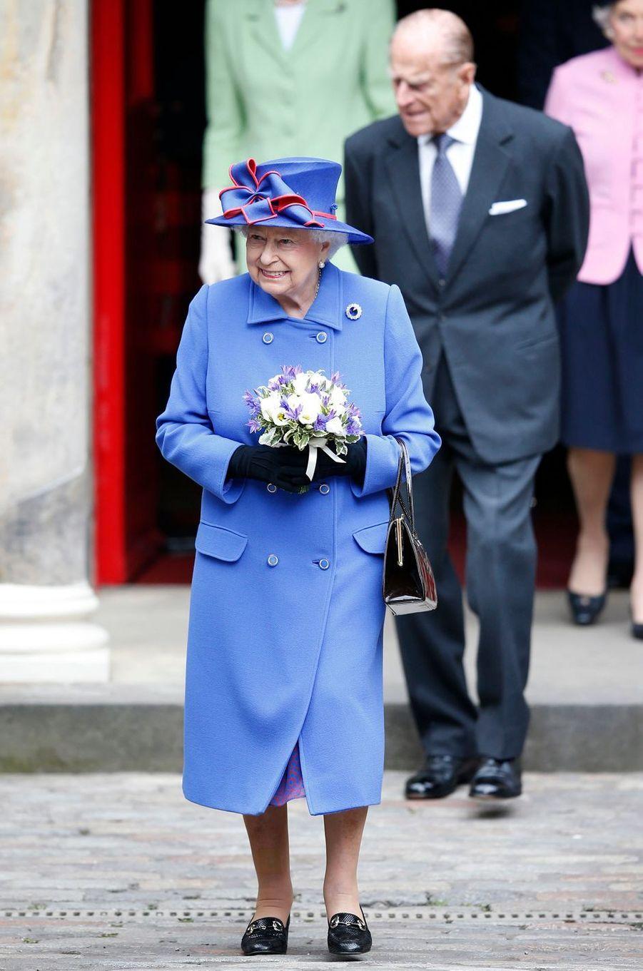 La reine Elizabeth II avec le prince Philip à Edimbourg, le 3 juillet 2016