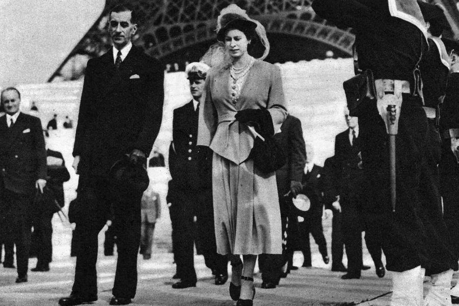 La princesse Elizabeth à Paris, le 15 mai 1948