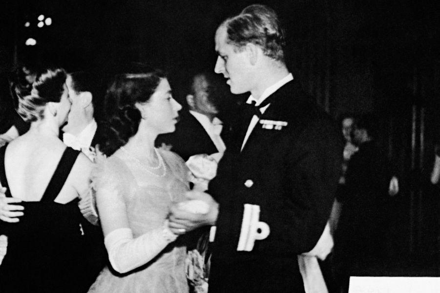 La princesse Elizabeth avec le prince Philip, le 16 juillet 1947
