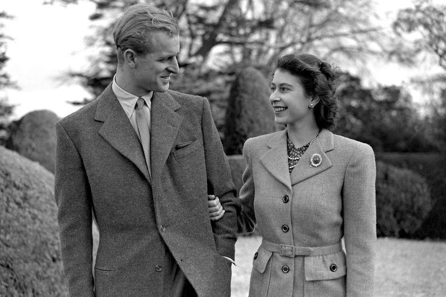 La princesse Elizabeth avec son mari le prince Philip, le 23 novembre 1947