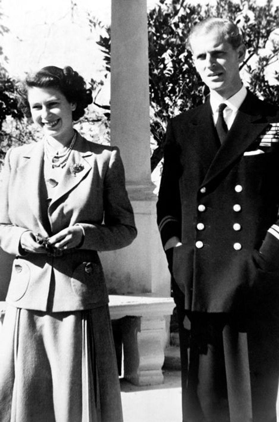 La princesse Elizabeth avec son mari le prince Philip, le 25 novembre 1949