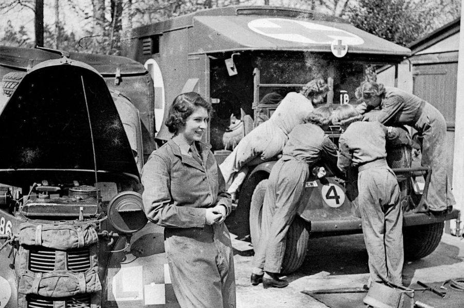 La princesse Elizabeth, en avril 1945