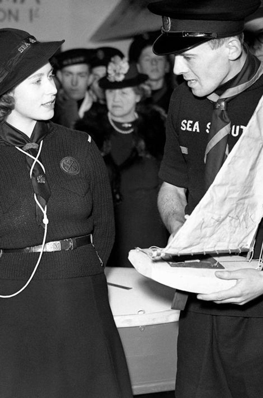 La princesse Elizabeth, le 18 avril 1944