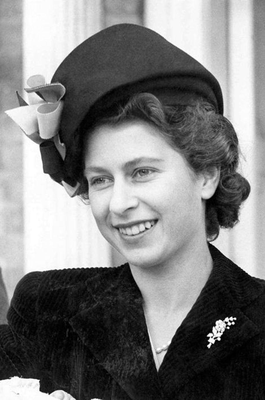 La princesse Elizabeth, le 3 novembre 1947