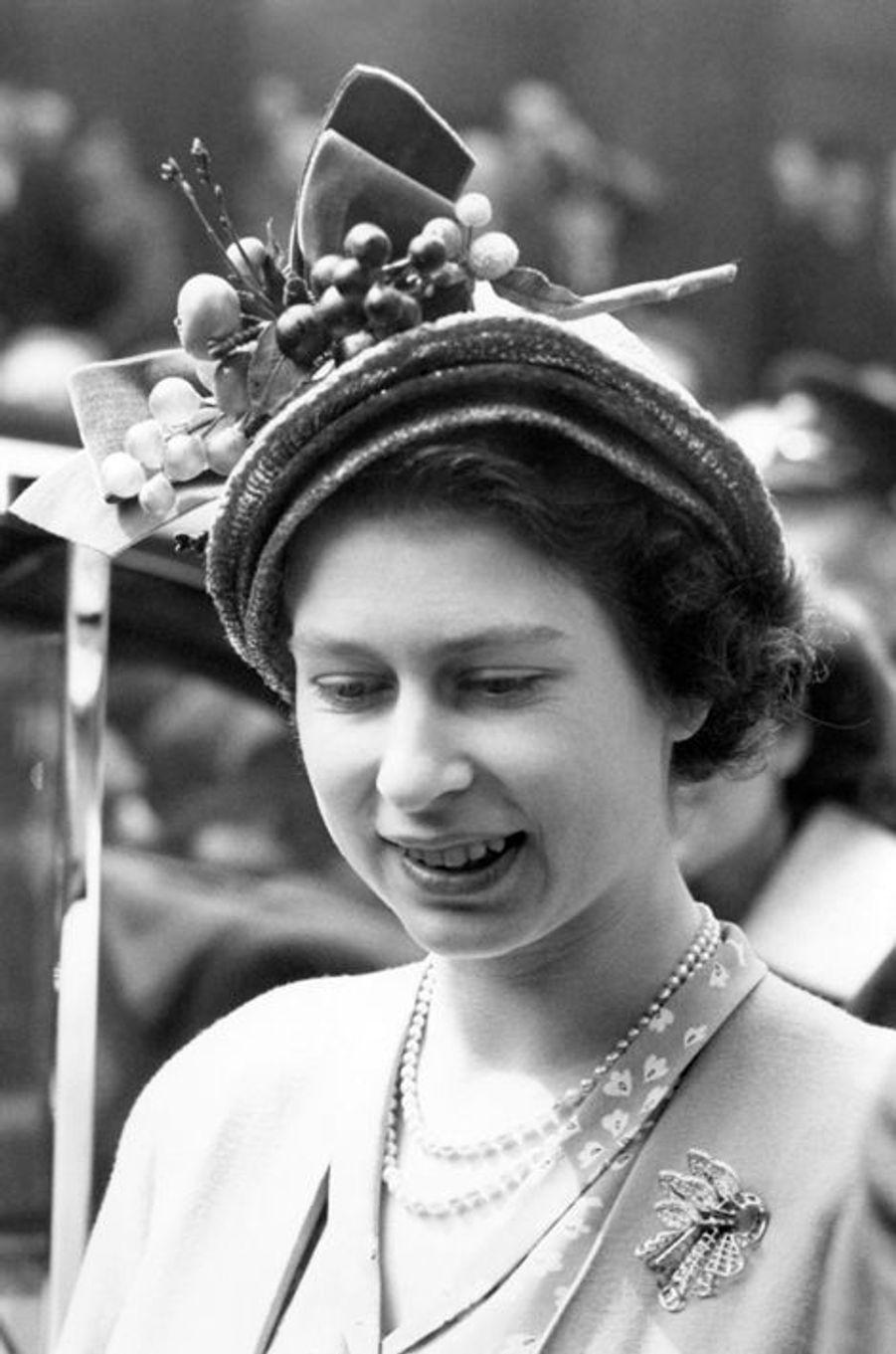 La princesse Elizabeth, le 4 mai 1949