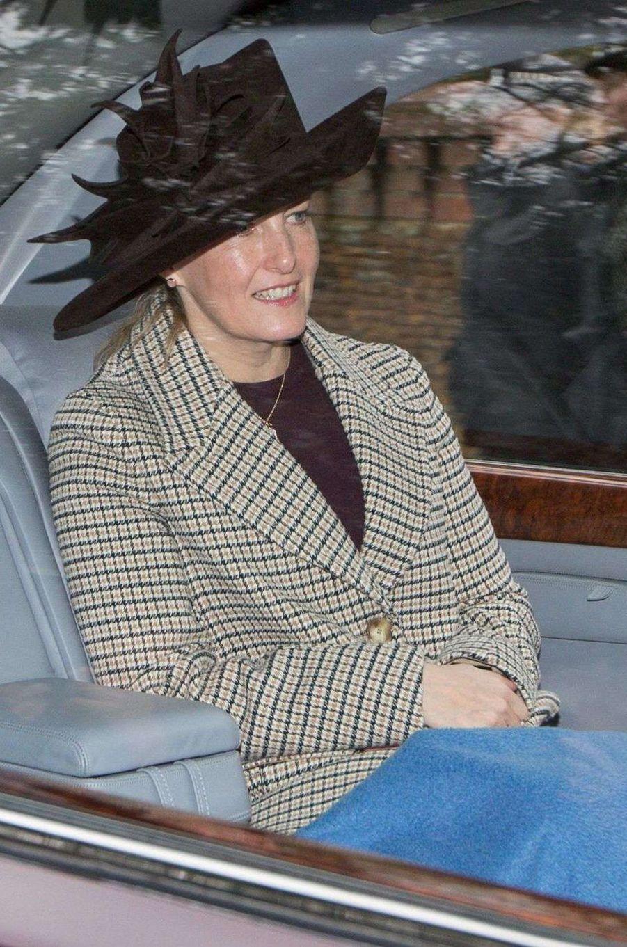 La comtesse Sophie de Wessex à Sandringham, le 31 décembre 2017