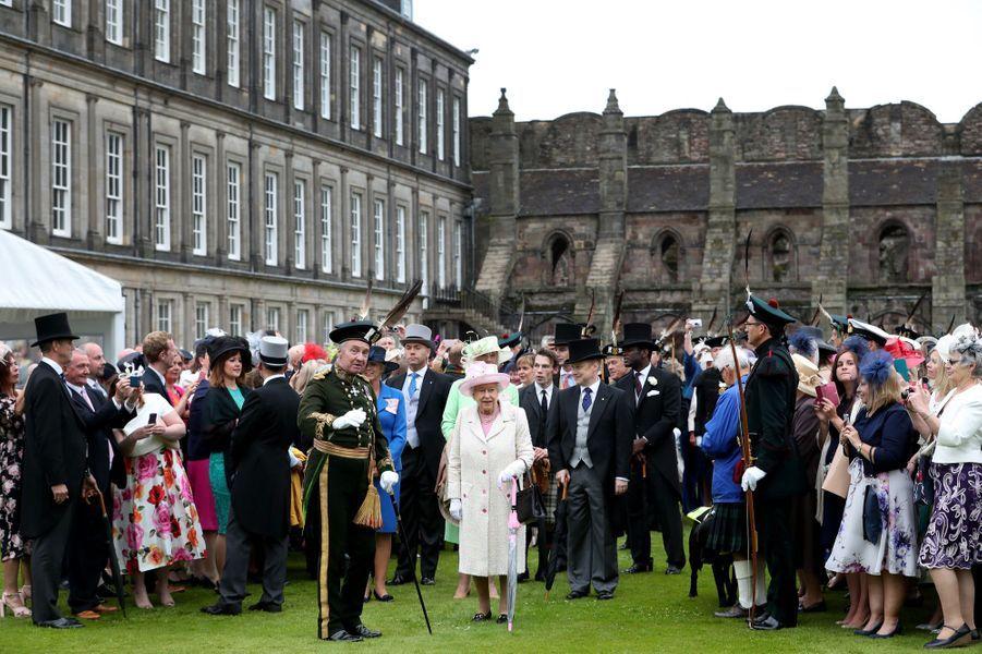 La reine Elizabeth II à Edimbourg, le 4 juillet 2017